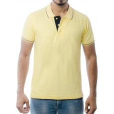 Ruffty Mens Cotton Polo,Collar Half Sleeve Tshirt, Cream ( RT-21 )