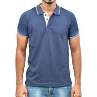 Ruffty Mens Cotton Polo,Collar Half Sleeve Tshirt, Denim ( RT-28 )