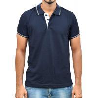 Ruffty Mens Cotton Polo,Collar Half Sleeve Tshirt, Dark Denim ( RT-29 )