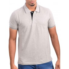 Ruffty Mens Cotton Polo,Collar Half Sleeve Tshirt, Grey ( RT-4 )