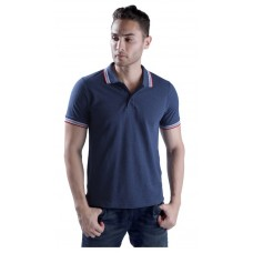 Wild Horn Polo T-Shirts Stone Blue/Red with Blue Jacquard  ( WH10 )