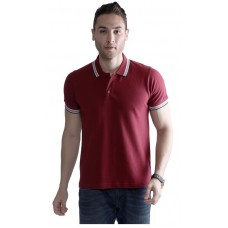 Wild Horn Polo T-Shirts Maroon/Black with Maroon Jacquard ( WH12 )