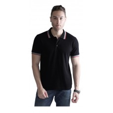 Wild Horn Polo T-Shirts  Black/Red with Black Jacquard  ( WH4 )