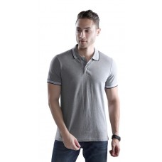 Wild Horn Polo T-Shirts  Grey Melange/Black with Grey Jacquard  ( WH5 )