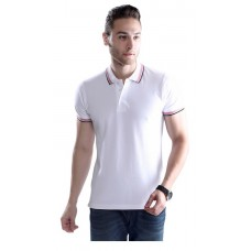Wild Horn Polo T-Shirts  White/Black with Red Jacquard ( WH6 )