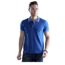 Wild Horn Polo T-Shirts  Royal Blue/Black with Blue Jacquard  ( WH7 )