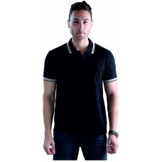 Wild Horn Polo T-Shirts Black/Black with Black Jacquard ( WH9 )
